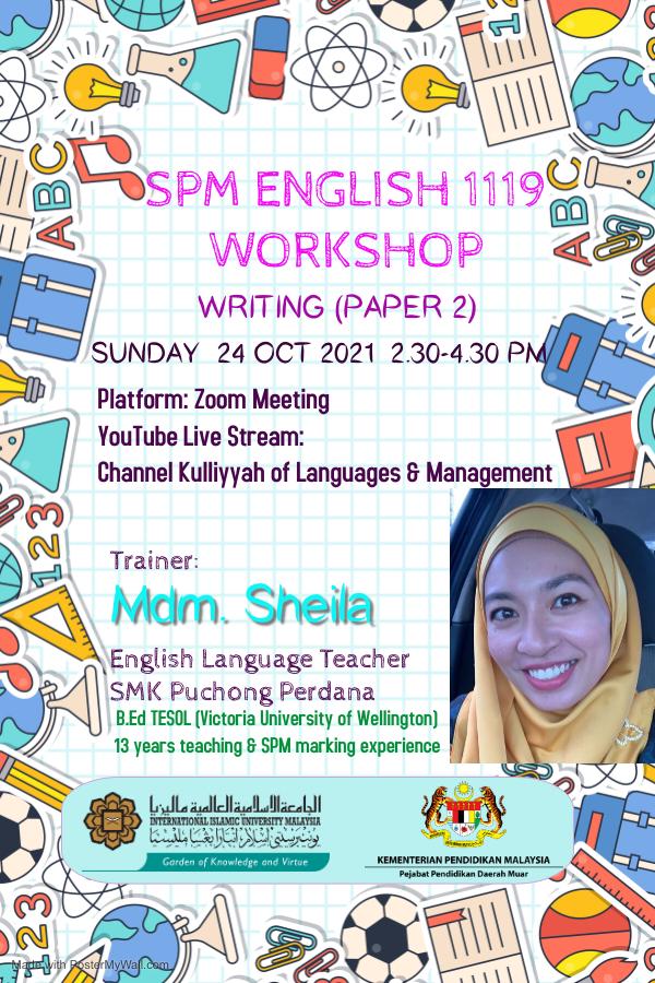SPM English 1119 Workshop - Paper 2