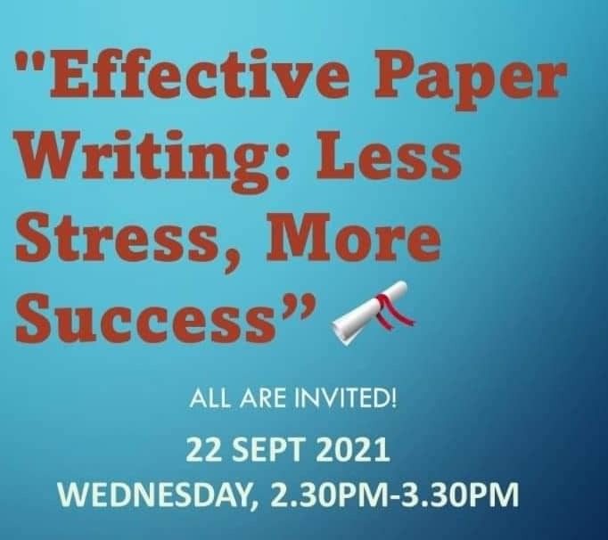 Effective Paper Writing: Less Stress, More Success