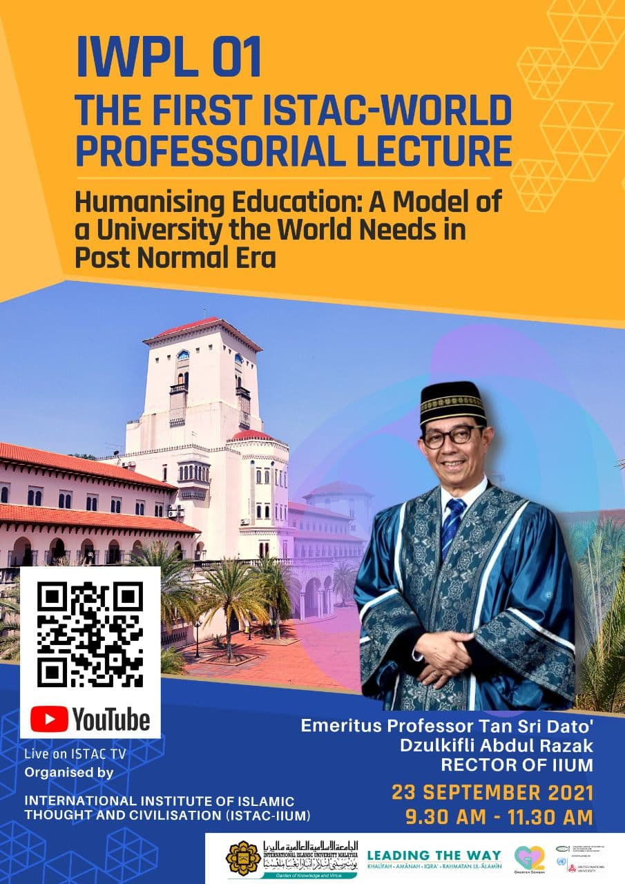 IWPL 01 - THE FIRST ISTAC-WORLD PROFESSORIAL LECTURE