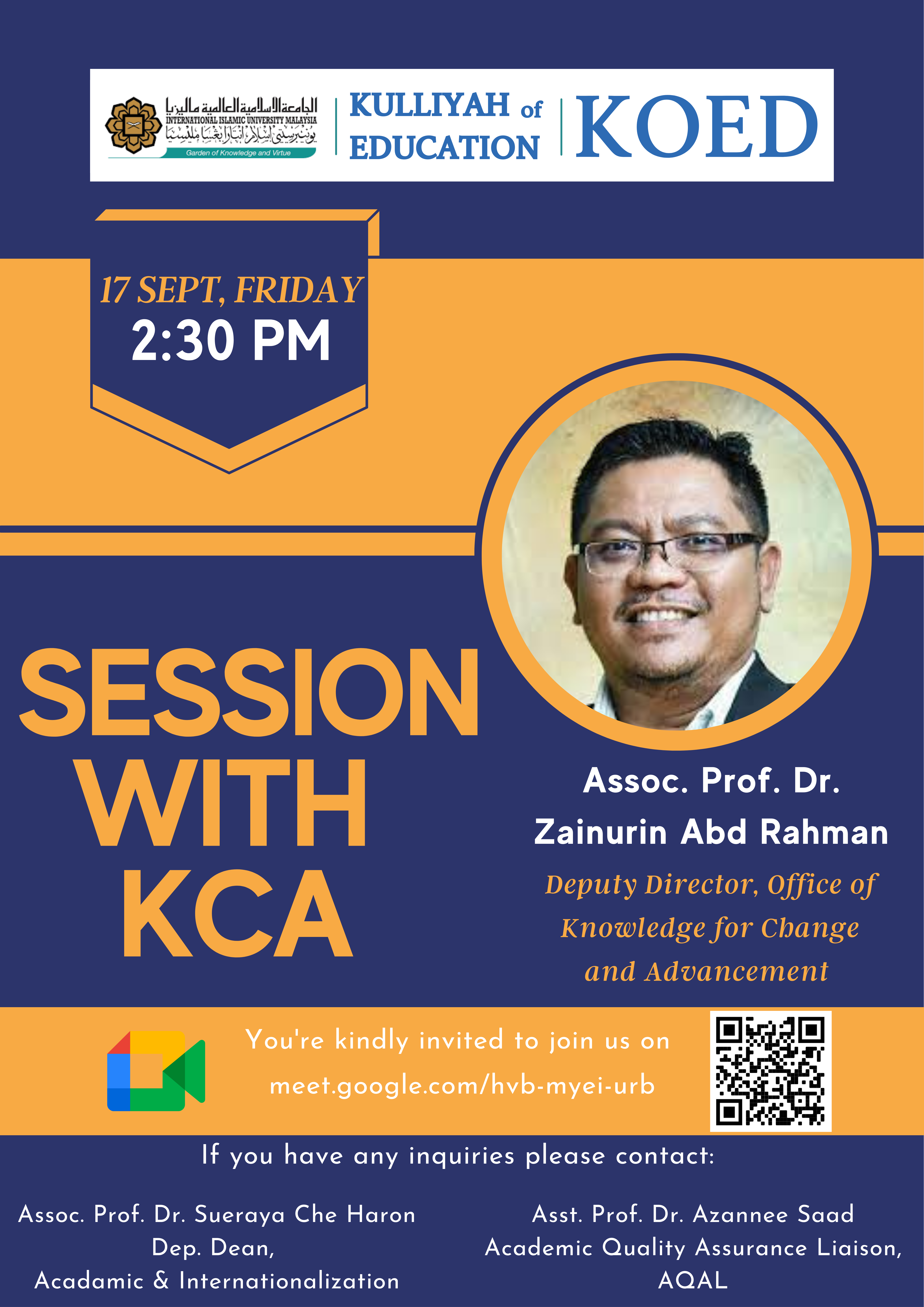 Session with KCA