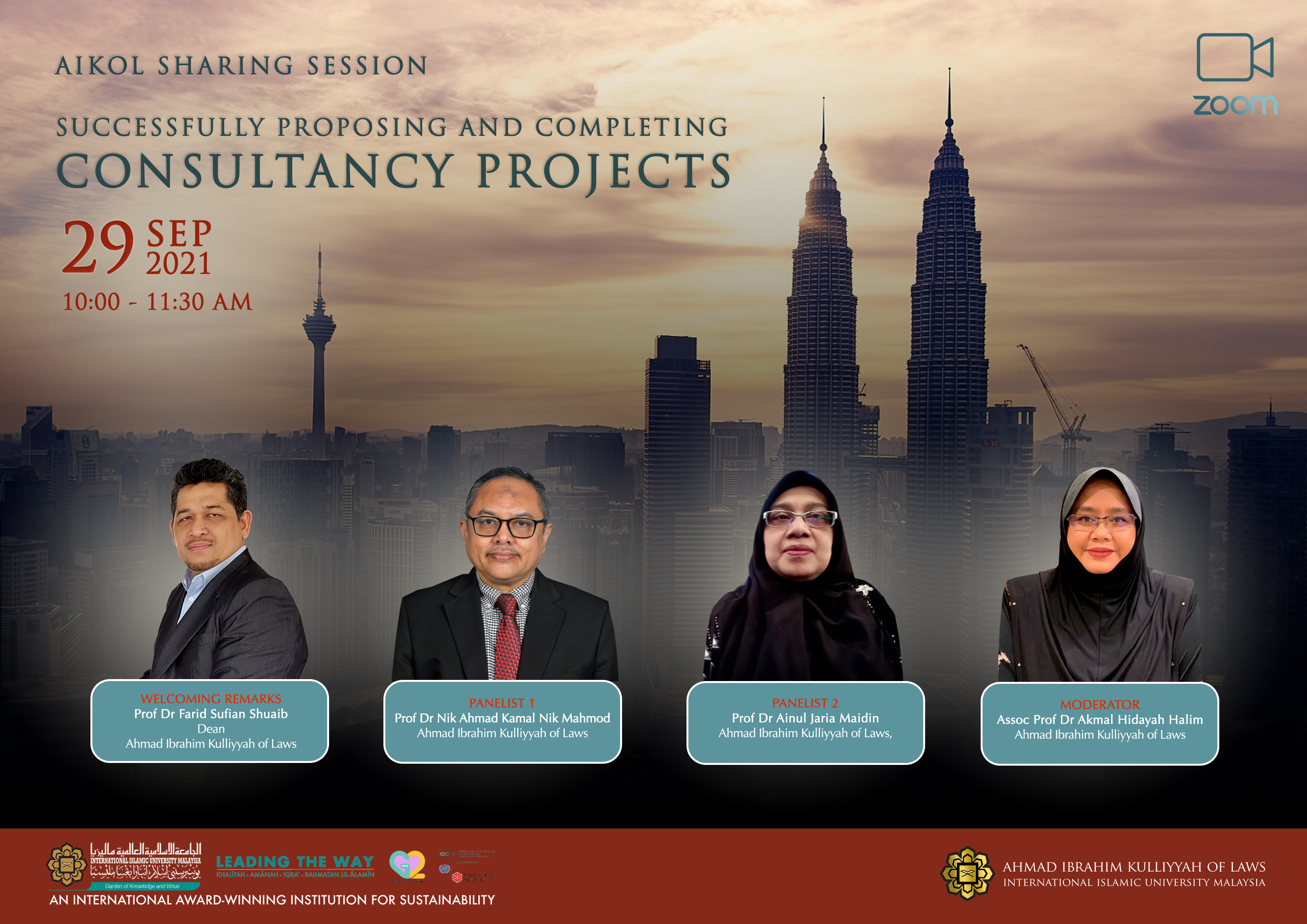 AIKOL SHARING SESSION: SUCCESSFULLY PROPOSING AND COMPLETING CONSULTANCY PROJECTS