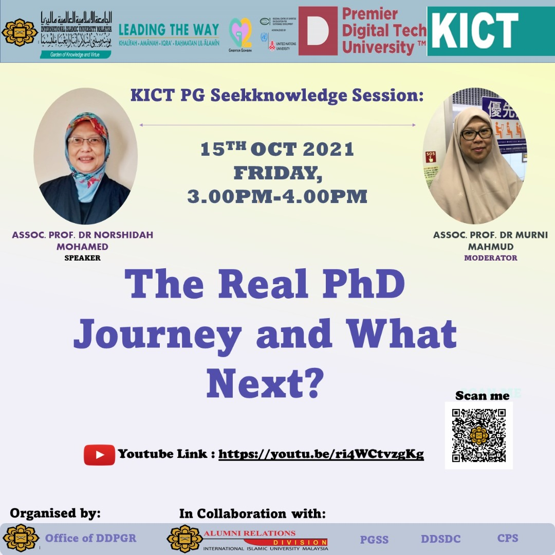 """PG SeekKnowledge Session on """"The Real PhD Journey and What Next?"""""""