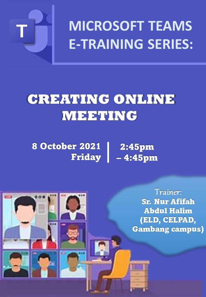 MS Teams Training Series: Creating Online Meeting