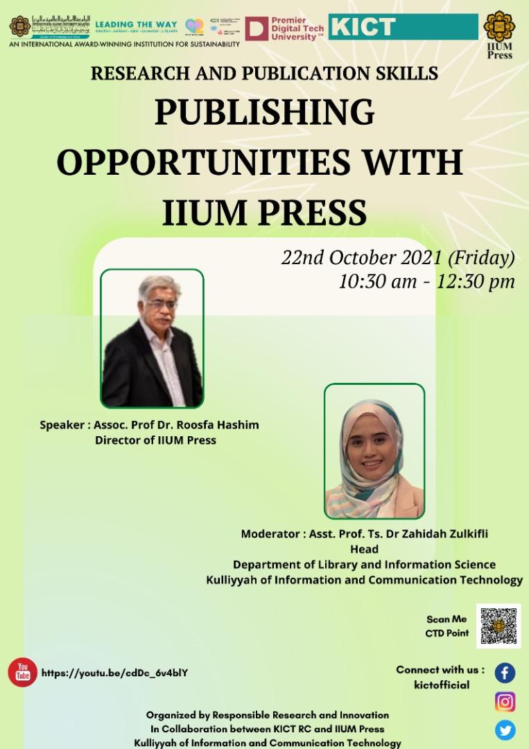 Publishing Opportunities With IIUM Press