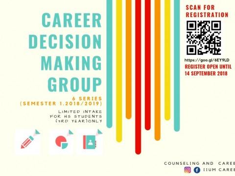 CAREER DECISION MAKING GROUP (FOR 3RD YEAR HS STUDENTS)