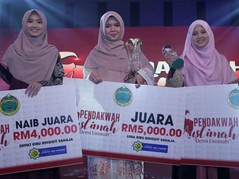 Raudhatul Jannah Mohd Rozli of IIUM won the Muslimah Da'i Award 2018