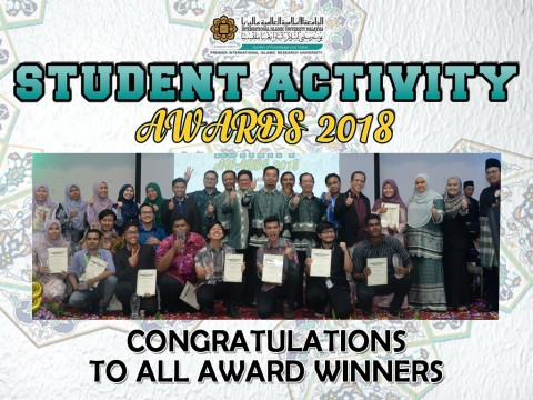 Congratulations to all winner during IIUM Student Activity Awards 2018
