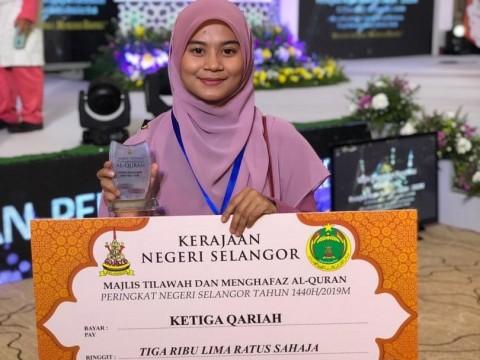 KLM Student won 3rd Place in Majlis Tilawah dan Menghafaz Al-Quran Peringkat Selangor 1440H/2019M.