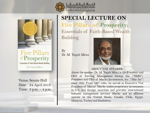 SPECIAL LECTURE ON FIVE PILLARS OF PROSPERITY: ESSENTIALS OF FAITH-BASED WEALTH BUILDING.