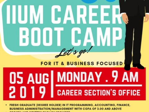 IIUM Career Bootcamp for IT and Business Focused