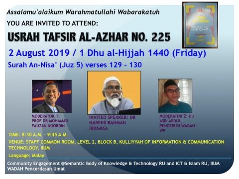 Usrah Tafsir Al-Azhar No. 225