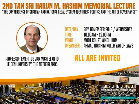 2ND TAN SRI HARUN HASHIM MEMORIAL LECTURE (28TH NOVEMBER 2018)