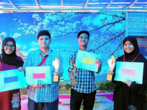 KLM Japanese Minor Course Students Won Prizes at Batu Pahat Japanese Festival