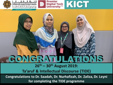 Congratulation on Completing TIDE Programme