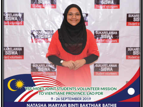 IIUM Pagoh: Best Wishes to Natasha Maryam in YSS- MOES Joint Students Volunteer Mission to Lao.