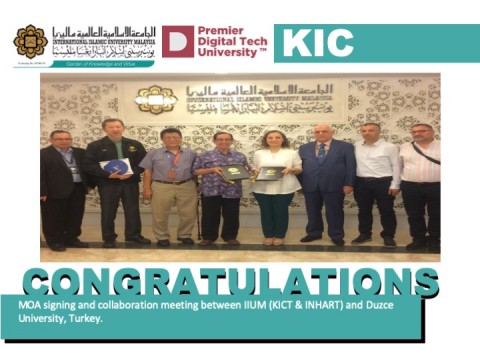Congratulations - MOA Between IIUM & Duzce University, Turkey