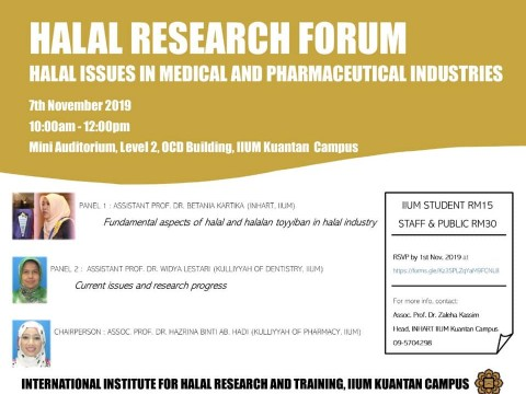 Halal Research Forum by Kuantan INHART Unit