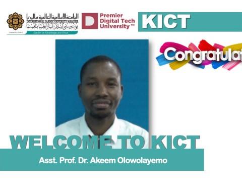 Welcome Dr. Akeem Olowolayemo