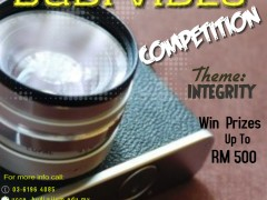 "BUDI VIDEO COMPETITION (BUDIVIC) 2018- THEME "" INTEGRITY"""