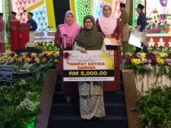 Congratulations Nurussyahamah on placing herself second in Majlis Tilawah Quran of Terengganu!