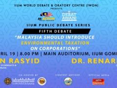 RE:Action – Youth Engaged IIUM Public Debate Series  (Fifth Debate)2019
