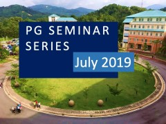PG Seminar Series: July 2019