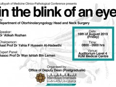 """""""In the Blink of an Eye"""" - KOM CPC by Dept. of ORL-HNS"""