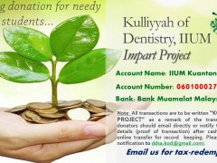 Donation for KOD IIUM Impart Project