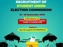 ​RECRUITMENT OF STUDENT UNION ELECTION COMMISSION