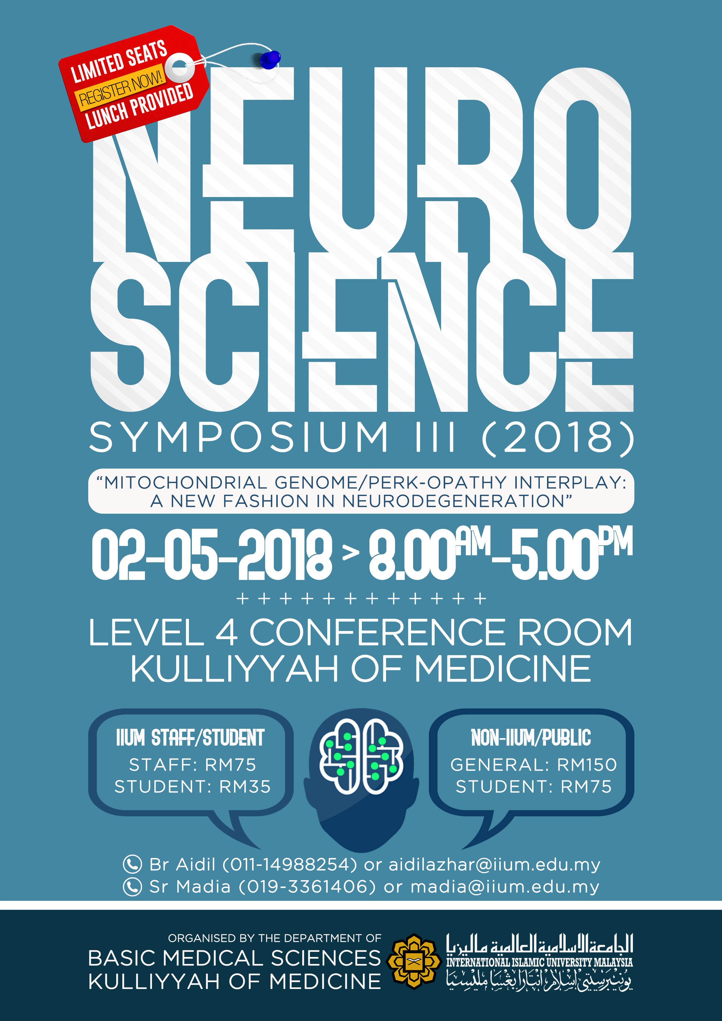 THE 3rd NEUROSCIENCE SYMPOSIUM 2018