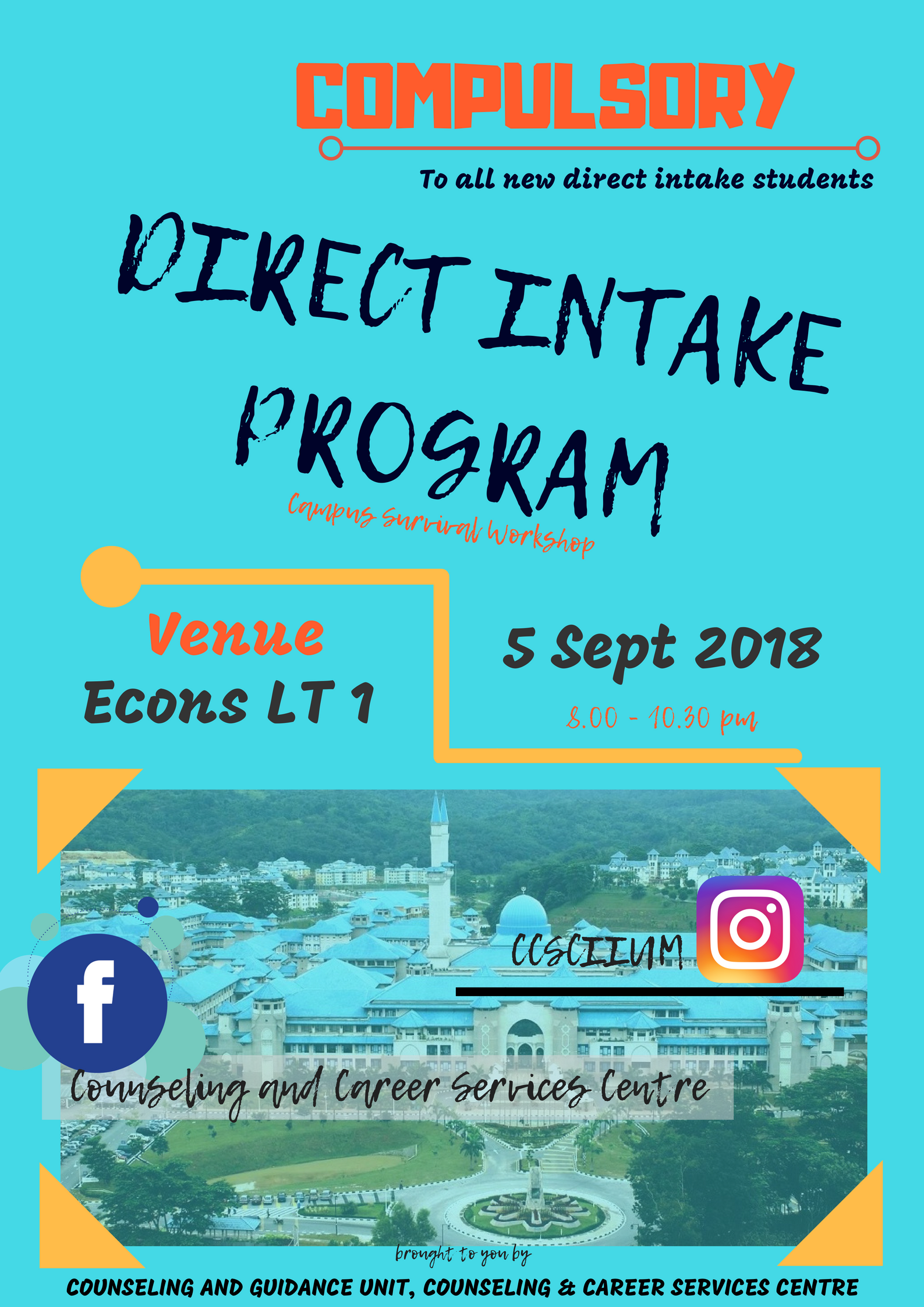 Direct Intake Program : Campus Survival Workshop