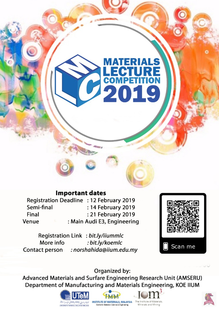 IIUM-Materials Lecture Competition (MLC) 2019