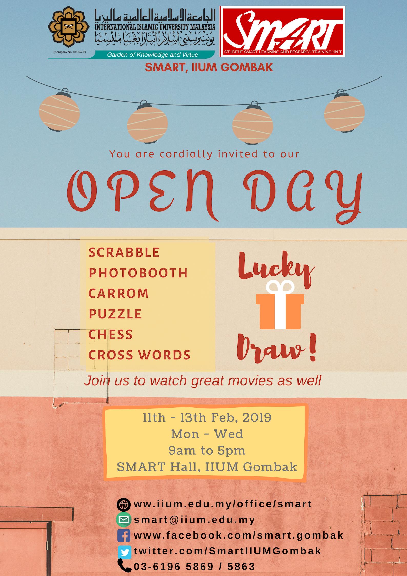 OPEN DAY SMART SEM 2, 2018/2019
