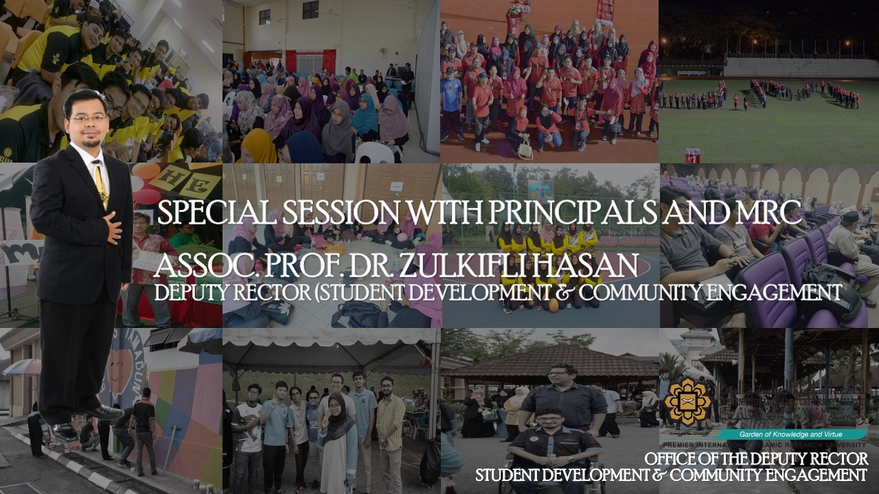 ​SPECIAL SESSION BETWEEN DEPUTY RECTOR (STUDENT DEVELOPMENT & COMMUNITY ENGAGEMENT) WITH PRINCIPALS AND ALL MRC MEMBERS