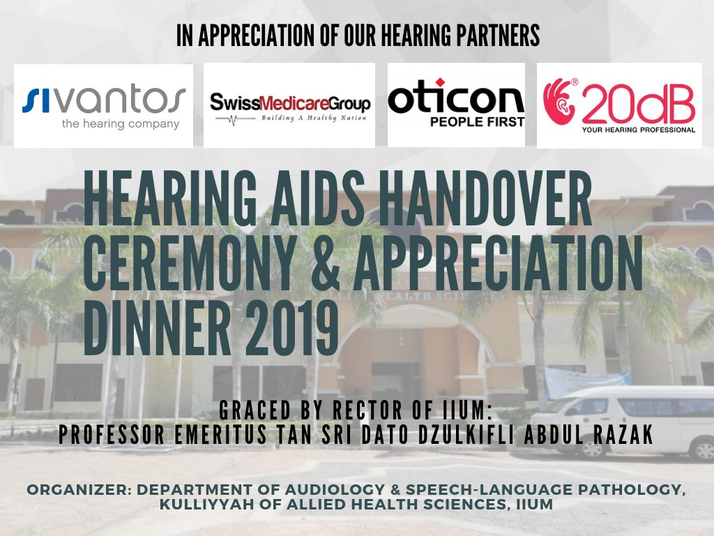 Hearing Aids Handover Ceremony & Appreciation Dinner 2019