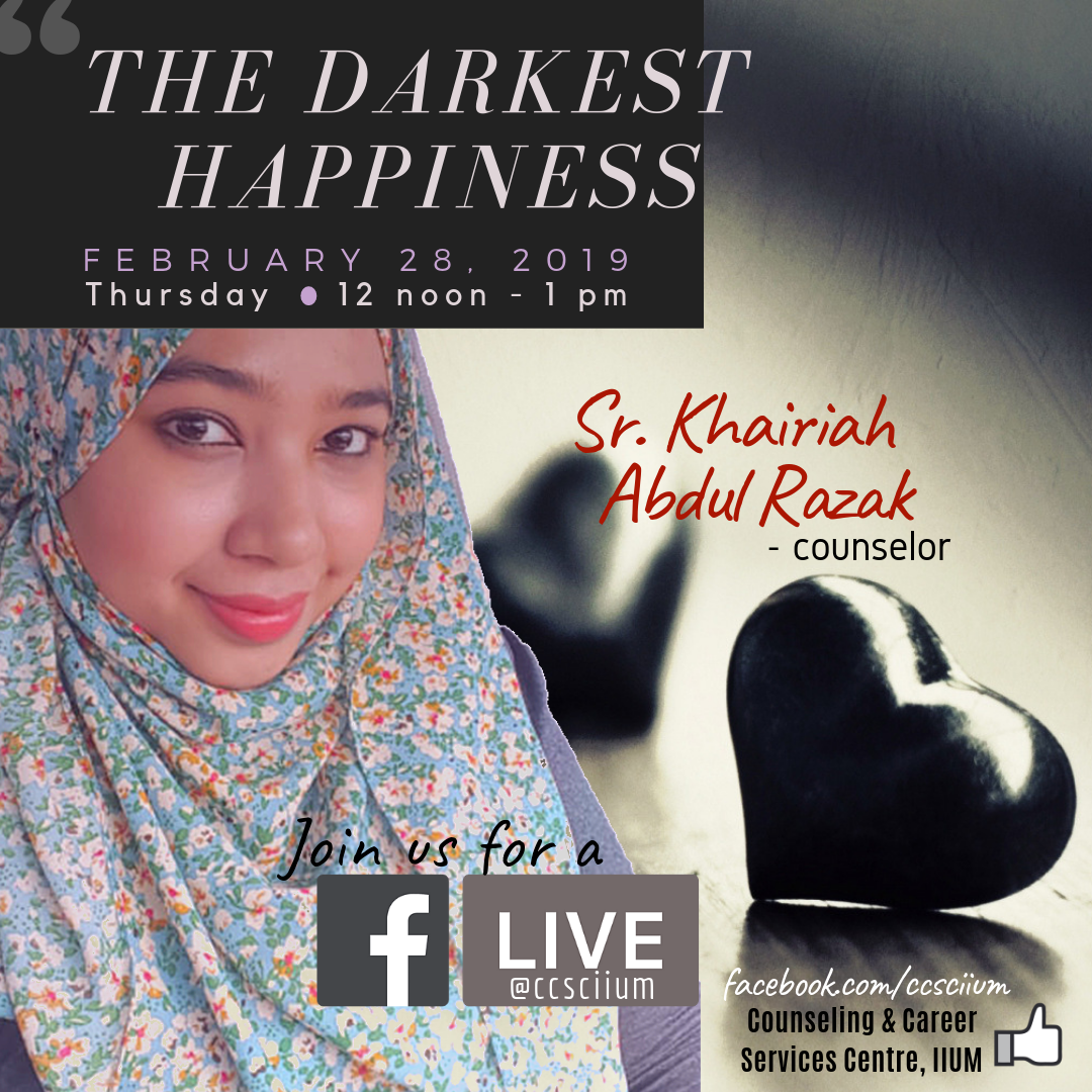 FB LIVE WITH COUNSELOR SR. KHAIRIAH ABDUL RAZAK