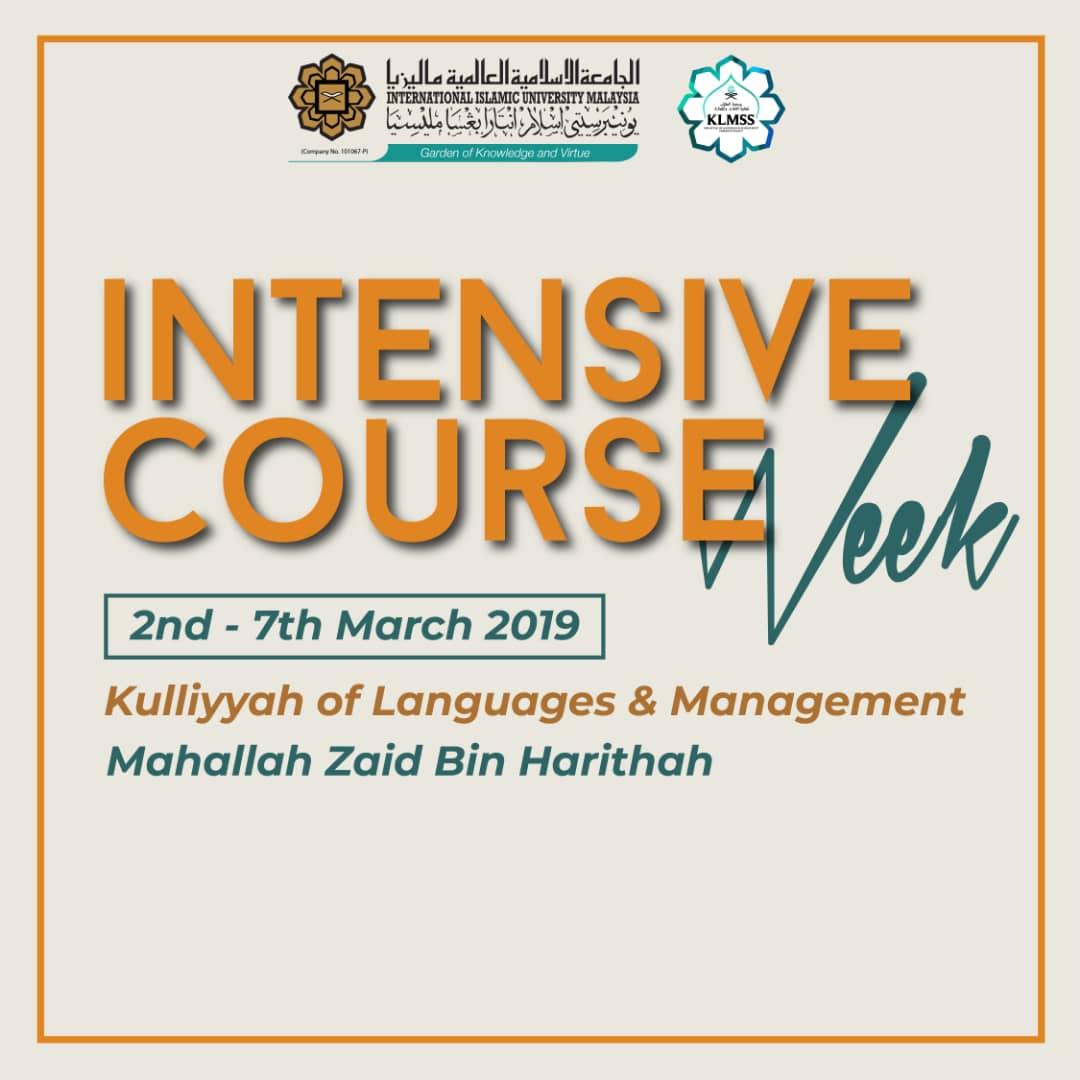 Intensive Course Week