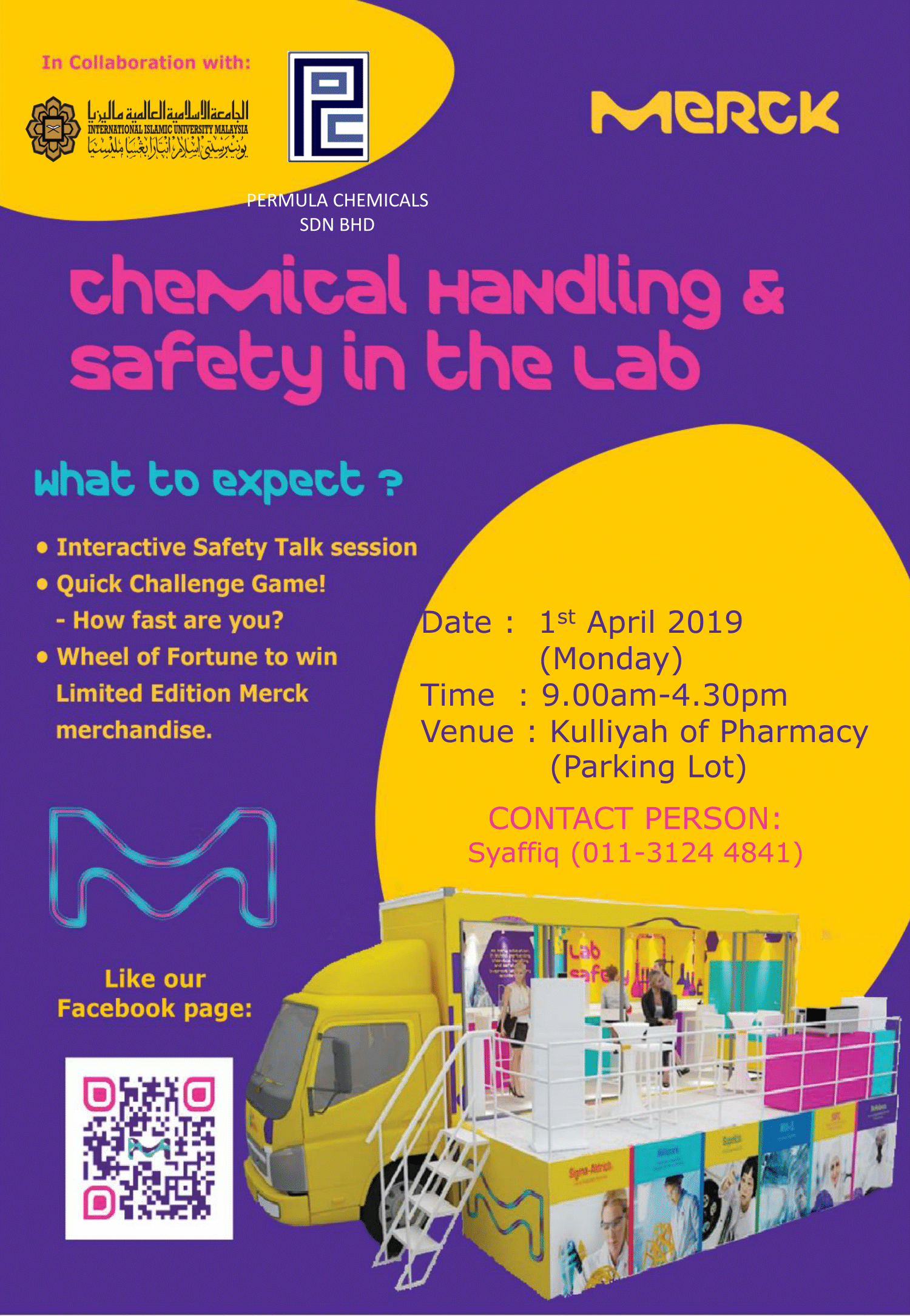 TALK ON SAFE CHEMICAL HANDLING IN LABORATORY & EXHIBITION TRUCK BY MERCK