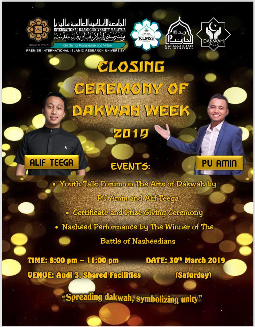 Closing Ceremony of Dakwah Week 2019