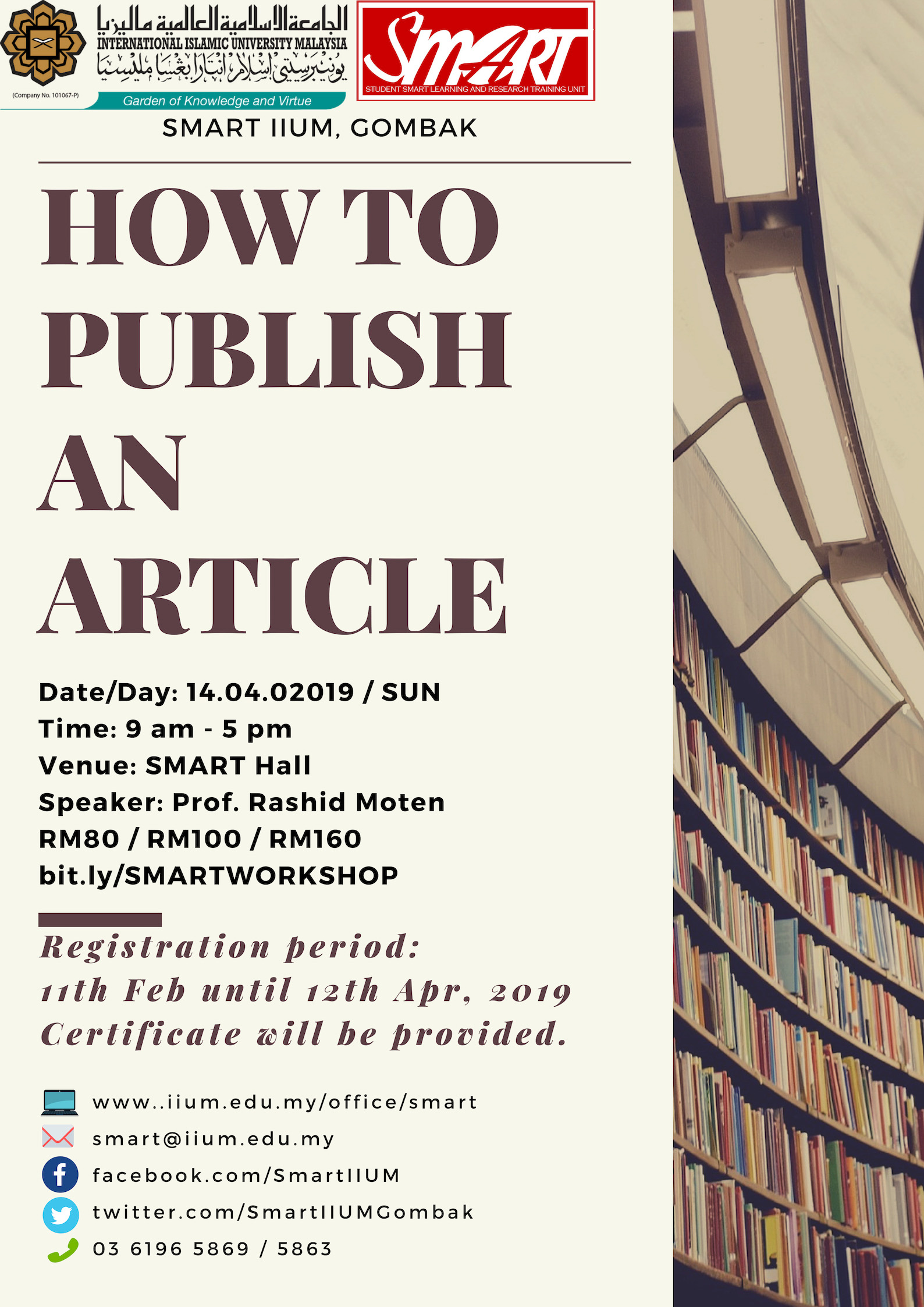 WORKSHOP : HOW TO PUBLISH AN ARTICLE