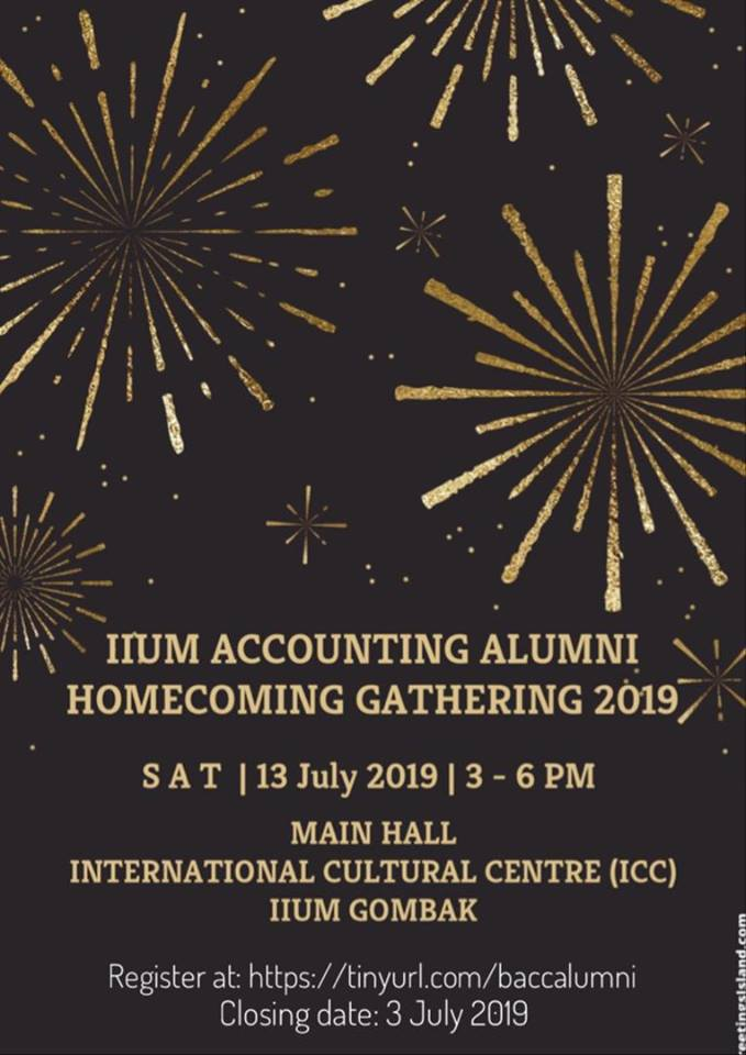 IIUM ACCOUNTING ALUMNI HOMECOMING GATHERING 2019