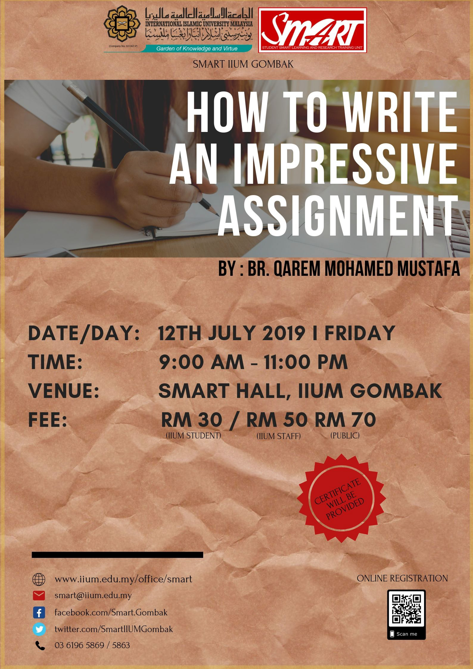WORKSHOP : HOW TO WRITE AN IMPRESSIVE ASSIGNMENT