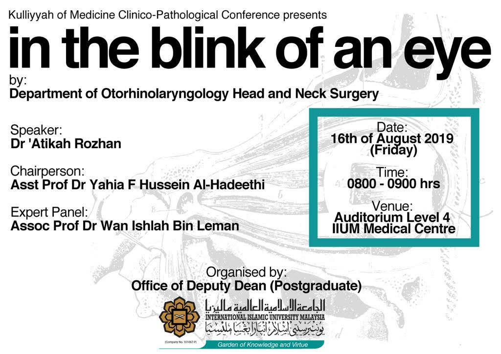 """In the Blink of an Eye"" - KOM CPC by Dept. of ORL-HNS"