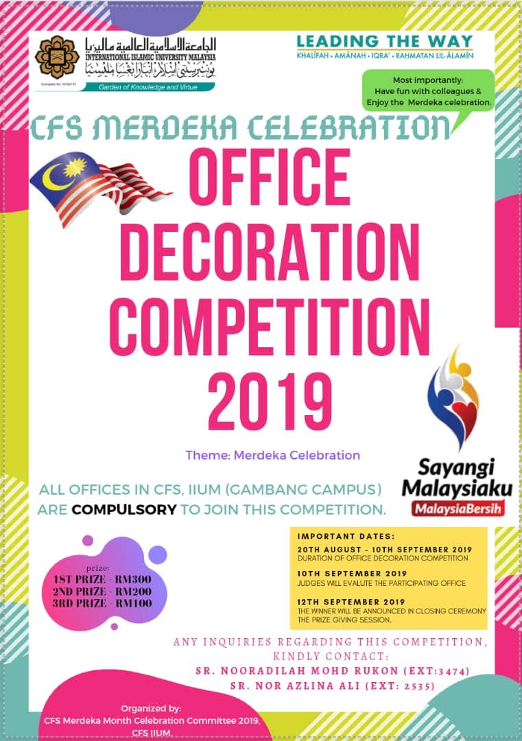 CFS Merdeka Celebration: Office Decoration Competition 2019