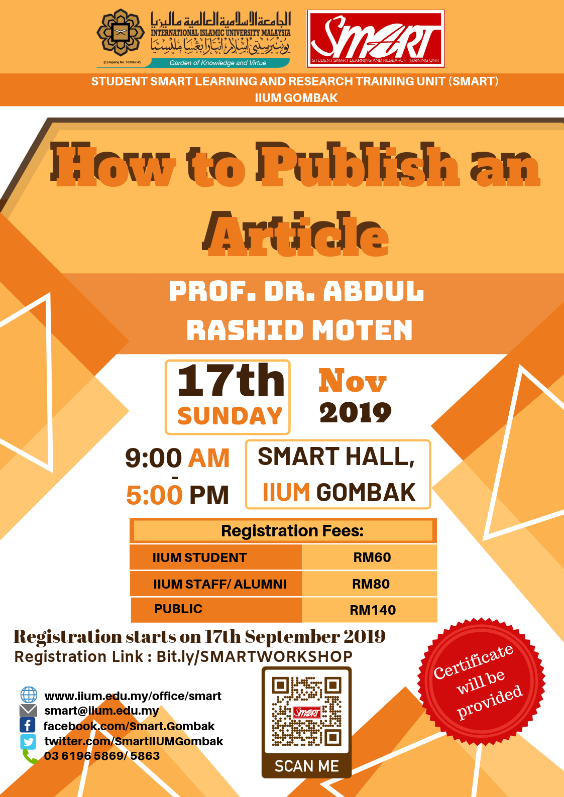 SEM 1, 19/20 - WORKSHOP - HOW TO PUBLISH AN ARTICLE