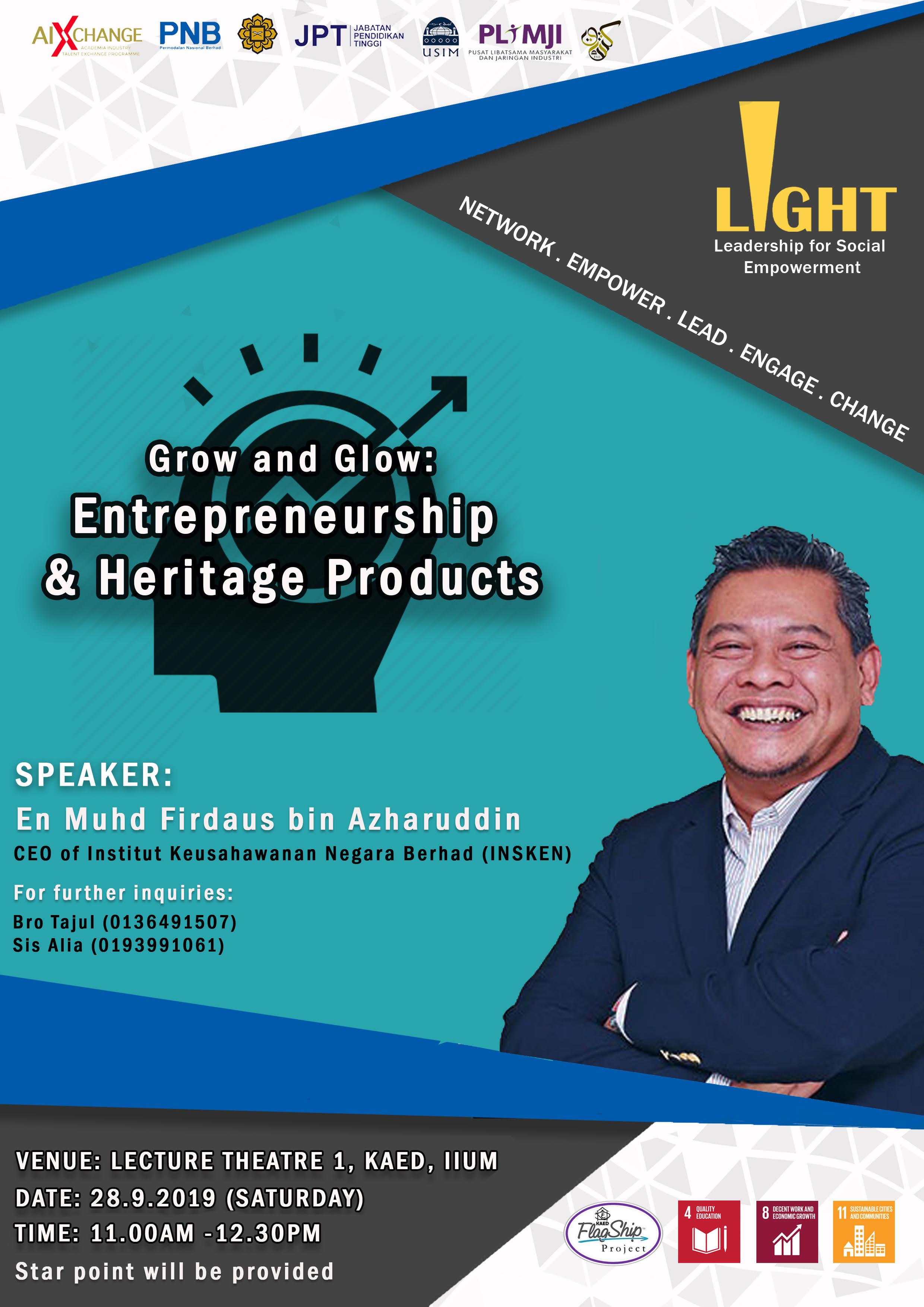 Grow & Glow: Entrepreneurship & Heritage Products