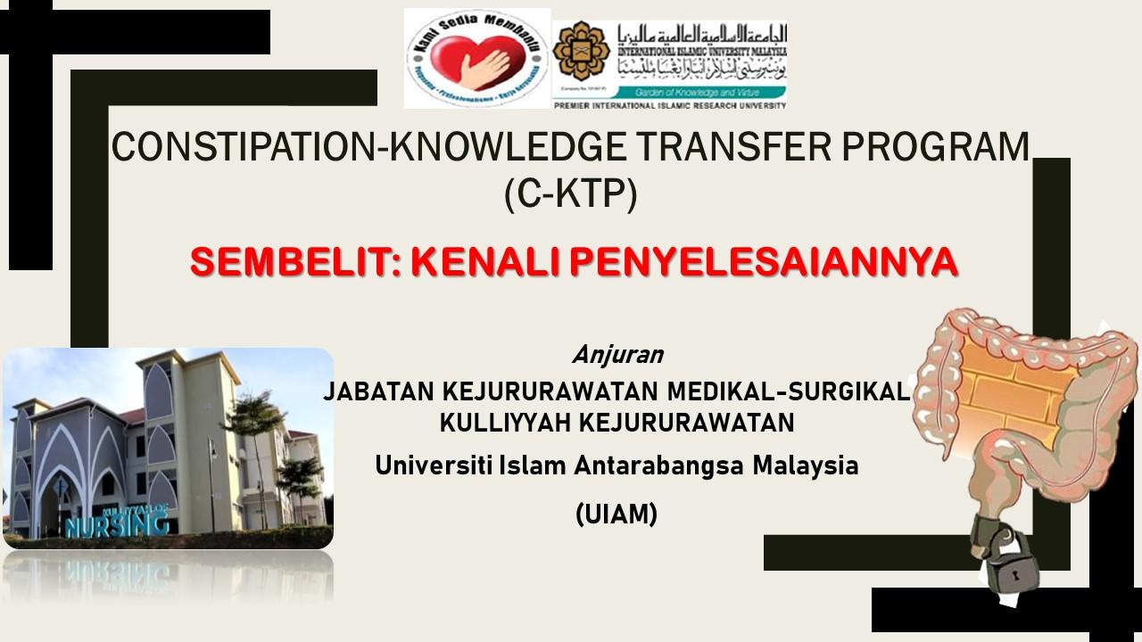 Constipation-Knowledge Transfer Program (C-KTP)