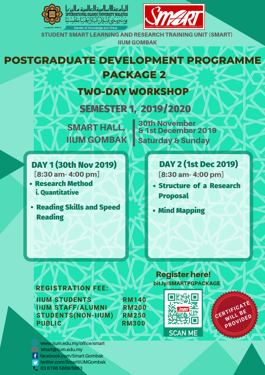WORKSHOP : POSTGRADUATE DEVELOPMENT PROGRAMME PACKAGE 2