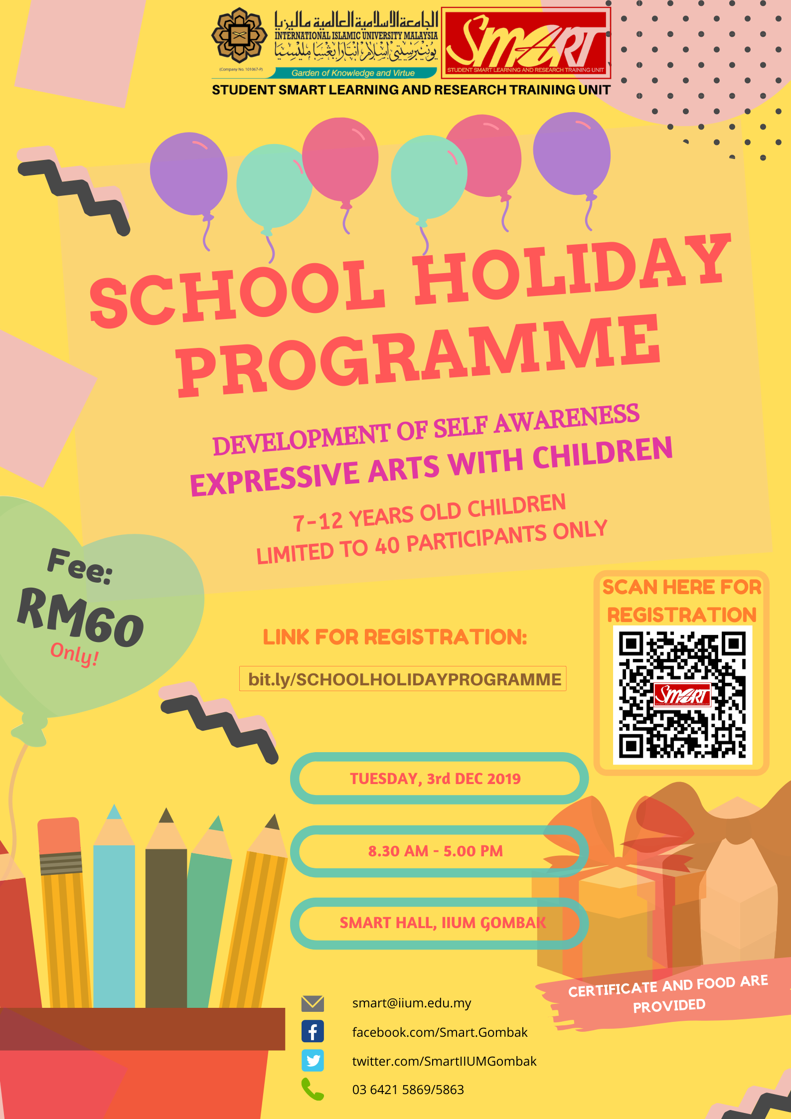 SCHOOL HOLIDAY PROGRAMME 2019