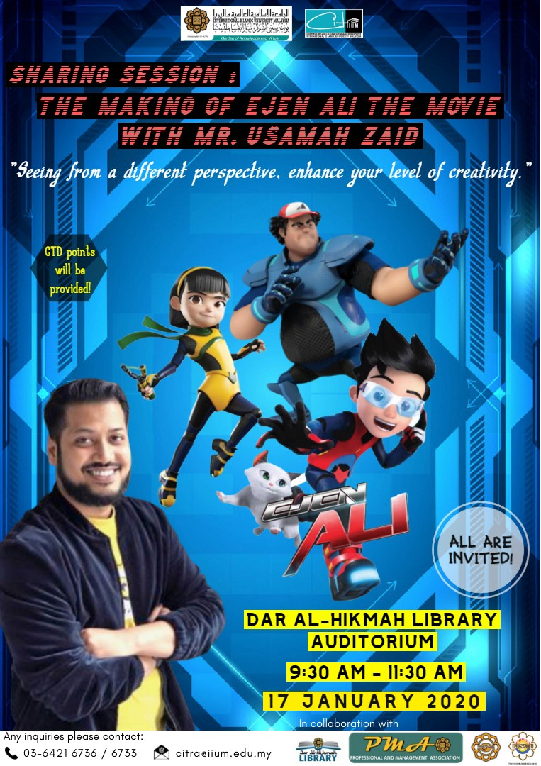 Sharing Session: The Making of Ejen Ali The Movie with Mr. Usamah Zaid